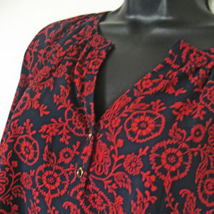 *NICE*Tommy Hilfiger Women's Blue Red Floral Tunic